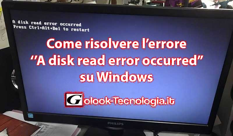 a disk read error occurred windows