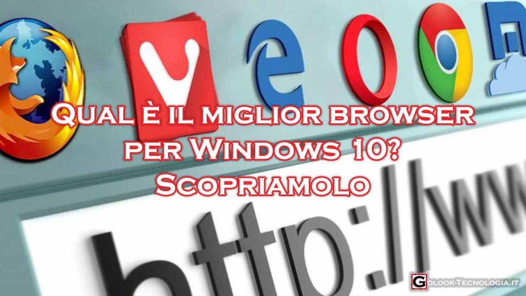Miglior Browser Windows 10