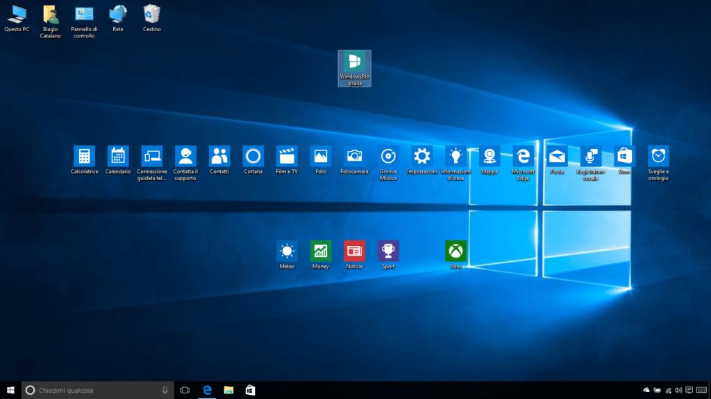 windows 10 come mettere le icone sul desktop