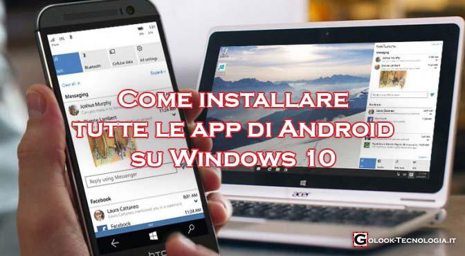 installare app android su windows 10