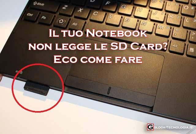 notebook non legge sd
