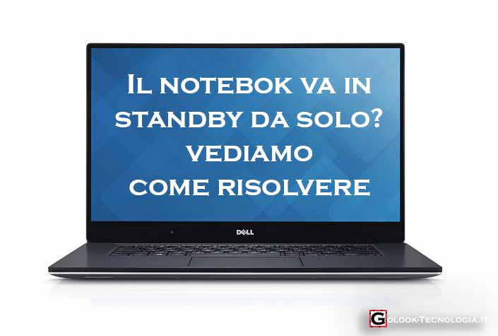 notebook va in standby da solo