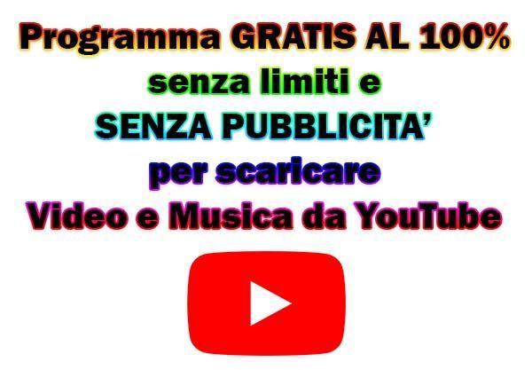 scaricare gratis musica da youtube